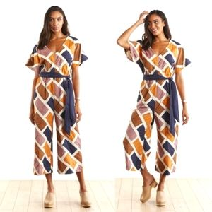 The Odells Chennai Jumpsuit in Myanmar Patchwork